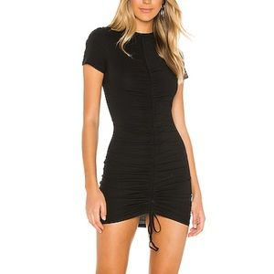 NEW Superdown black ruched tie mini dress t shirt